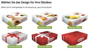 Obstboxen-Designs als Geschenk oder Firmenräsent
