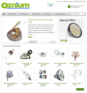 Oznium LED lighting products